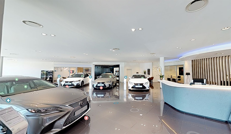 Visite virtuelle du showroom Lexus Annemasse